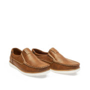 Contrasting Stitch Detail Slip-On Loafers_Coffee (2)