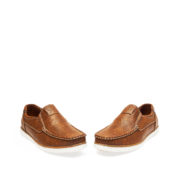 Contrasting Stitch Detail Slip-On Loafers_Coffee (3)