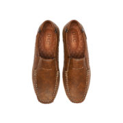Contrasting Stitch Detail Slip-On Loafers_Coffee (5)