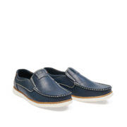 Contrasting Stitch Detail Slip-On Loafers_Navy (2)
