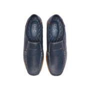 Contrasting Stitch Detail Slip-On Loafers_Navy (5)