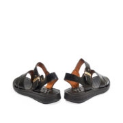 Leather Push Pin Buckle Sandals_Black (4)