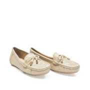 Ribbon Perforated Loafers_Grey (2)