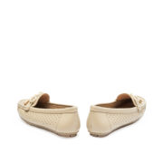 Ribbon Perforated Loafers_Grey (4)