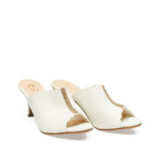 Scallop Crystal Embellished Peep Toe Mule Heels_White (2)