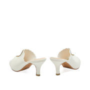 Scallop Crystal Embellished Peep Toe Mule Heels_White (4)