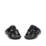 Abstract Brush Print Utility Sandals_Black (3)
