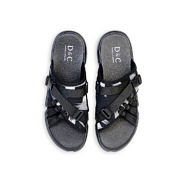 Abstract Brush Print Utility Sandals_Black (5)