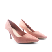 Basic Suede Pointed Toe High Heel Pumps_Pink (2)