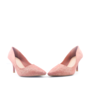 Basic Suede Pointed Toe High Heel Pumps_Pink (3)