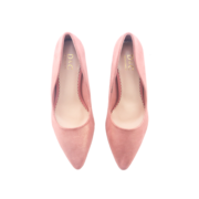 Basic Suede Pointed Toe High Heel Pumps_Pink (5)
