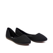 Basic Textile Almond Toe Ballet Flats_Black (2)