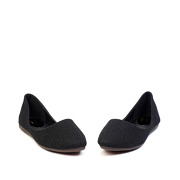 Basic Textile Almond Toe Ballet Flats_Black (3)