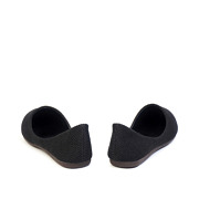Basic Textile Almond Toe Ballet Flats_Black (4)