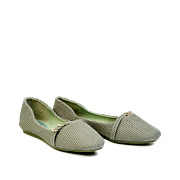 Embellished Triple Ring Mary Jane Ballet Flats_Green (2)
