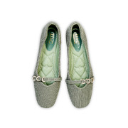 Embellished Triple Ring Mary Jane Ballet Flats_Green (5)