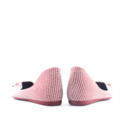 Houndstooth Ribbon V-Cut Almond Toe Ballet Flats_Maroon (4)
