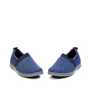 Casual Mix Media Slip-On Sneakers_NAVY (3)