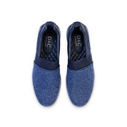 Casual Mix Media Slip-On Sneakers_NAVY (5)