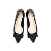 Classic Bow Pointed Toe Kitten Heel Pumps_Black (5)