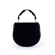 Coiled Top Handle Saddle Crossbody Bag_BLACK (4)