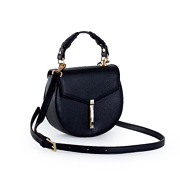 Coiled Top Handle Saddle Crossbody Bag_BLACK (5)