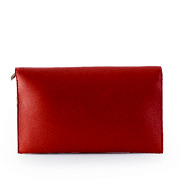 Netted Metal Disc Detail Flap Clutch_RED (4)