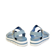 Perforated Buckle Strap Layered Platform Sandals_BLUE (4)