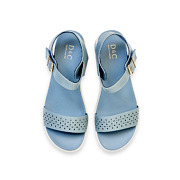 Perforated Buckle Strap Layered Platform Sandals_BLUE (5)