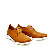 Perforated Dots Derby Lace-Up Sneakers_CAMEL (2)