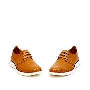 Perforated Dots Derby Lace-Up Sneakers_CAMEL (3)