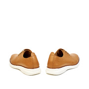 Perforated Dots Derby Lace-Up Sneakers_CAMEL (4)
