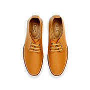 Perforated Dots Derby Lace-Up Sneakers_CAMEL (5)