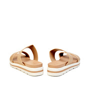Perforated Double Strap Layered Platform Slip-On Sandals_APRICOT (4)