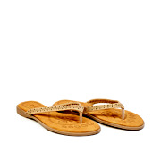 Perforated Pattern Thong Slippers_APRICOT (2)