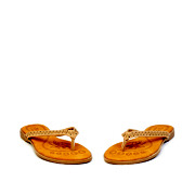 Perforated Pattern Thong Slippers_APRICOT (3)