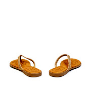 Perforated Pattern Thong Slippers_APRICOT (4)