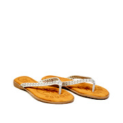 Perforated Pattern Thong Slippers_GREY (2)