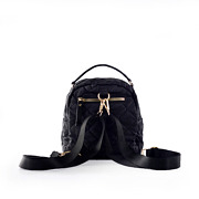Quilted Fabric Convertible Backpack_BLACK (3)