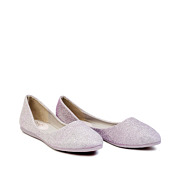 Shimmery Almond Toe Ballet Flats_Purple (2)