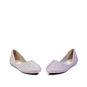 Shimmery Almond Toe Ballet Flats_Purple (3)