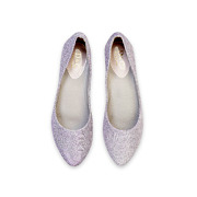 Shimmery Almond Toe Ballet Flats_Purple (5)