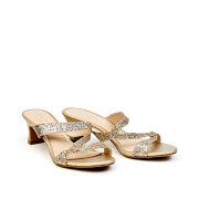 Sparkly Asymmetric Slide Kitten Heel Sandals_GOLD (2)
