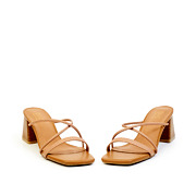 Strappy Square Toe Wooden Block Heel Sandals_PINK (3)