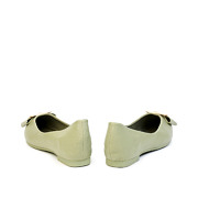 Trapezium Buckle Pointed Toe Ballet Flats_GREEN (4)