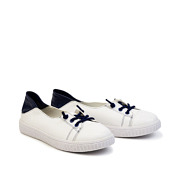 Two-Tone Lace-Up Sneaker Ballet Flats_NAVY (2)