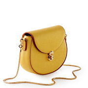 Two-Tone Snake Chain Saddle Shoulder Bag_YELLOW (2)