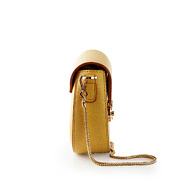 Two-Tone Snake Chain Saddle Shoulder Bag_YELLOW (3)
