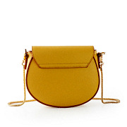 Two-Tone Snake Chain Saddle Shoulder Bag_YELLOW (4)