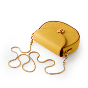 Two-Tone Snake Chain Saddle Shoulder Bag_YELLOW (5)